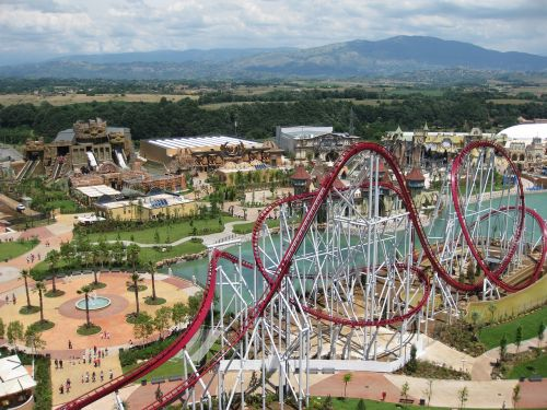 rollercoaster rainbow magicland attraction