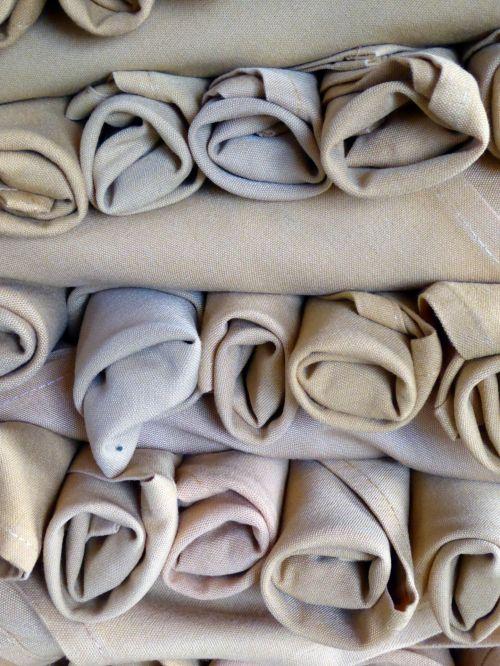 Rolls Of Cloth Napkins