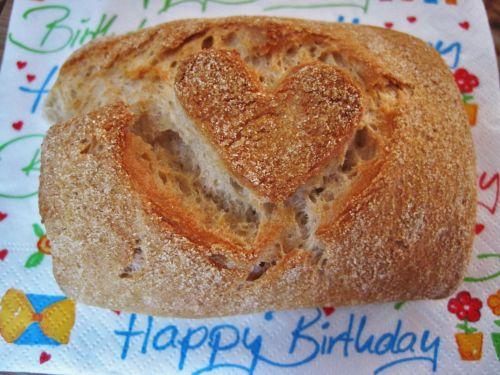 rolls with heart breakfast bread