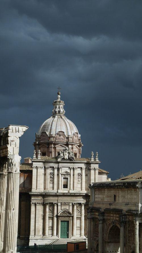 roma rome grey sky