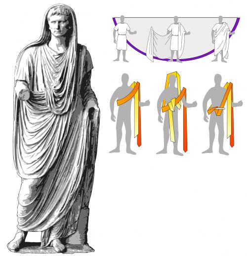 roman toga tying