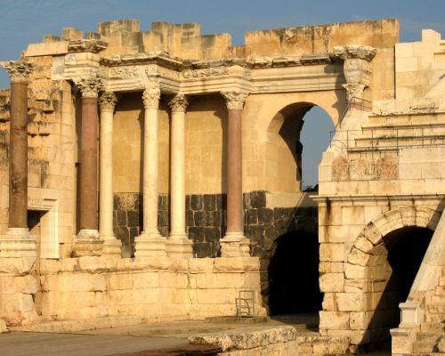 Roman Amphitheater Ruins In Israel