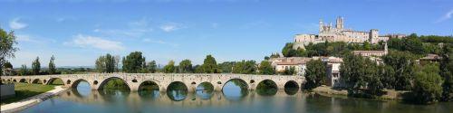 roman bridge béziers saint-nazaire cathedral