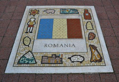 romania team emblem flag