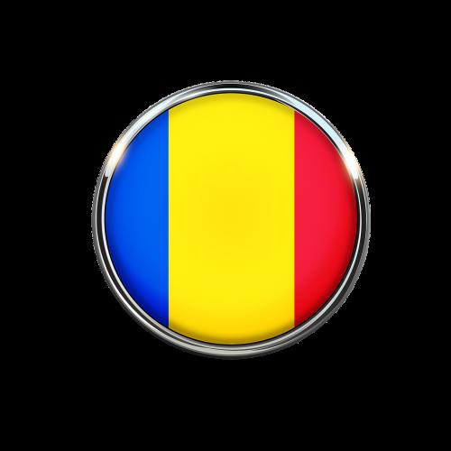 romania flag circle