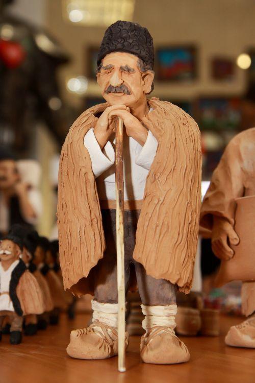 romanian folk clay romanian traditional man