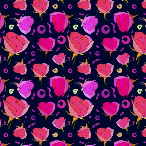 Romantic Roses Pattern