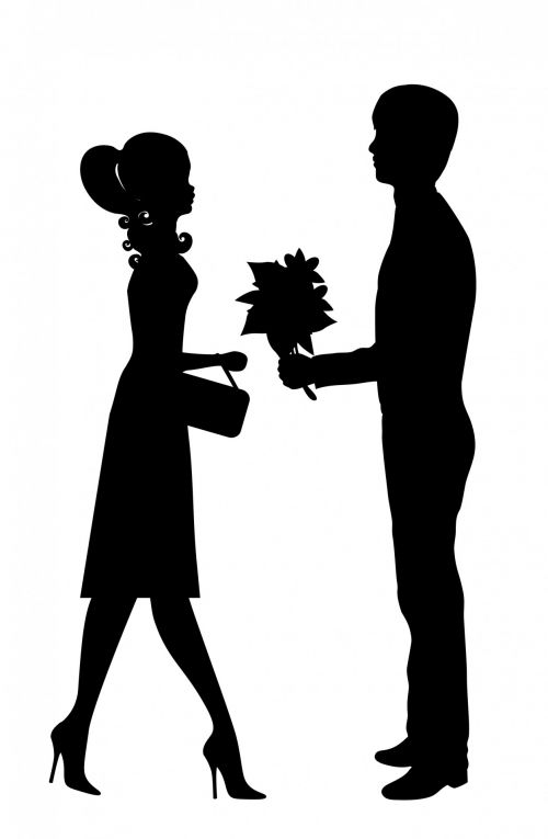 Romantic Young Couple Clipart