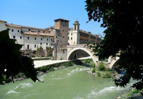 rome tiber island river