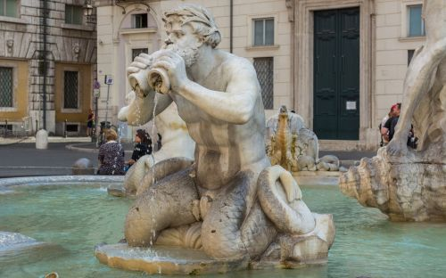 rome moor fountain piazza navona