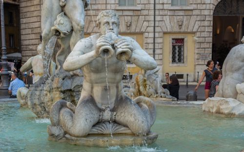 rome moor fountain piazza navona