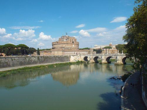 rome tiber castel sant'angelo