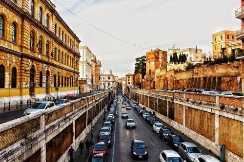 rome colosseum road