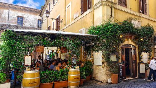 rome italy cafe
