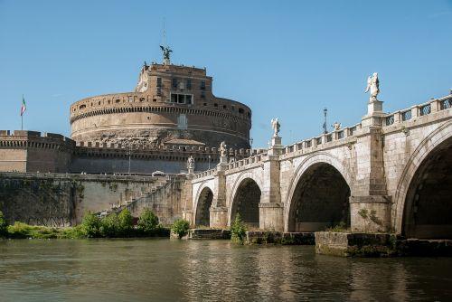 rome castle saint-angel tiber