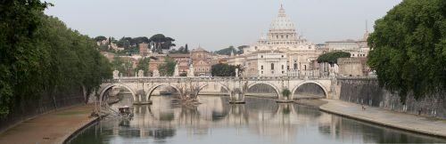 rome tiber st peter's basilica