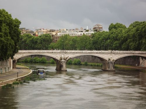 rome tiber ponte st angelo