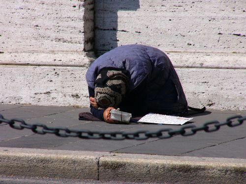 rome italy beggar