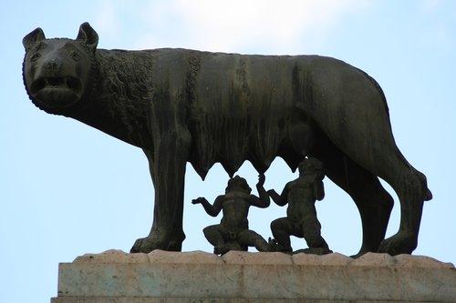 rome  landmark  capitoline she-wolf