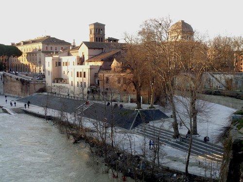 rome  tiber  tiber island