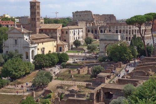rome  forum  colosseum