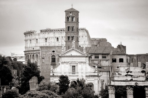rome  coliseum  church