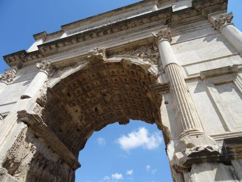 rome roman forum triumphal arch