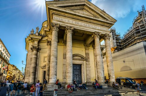 Rome Church At Piazza Del Popolo