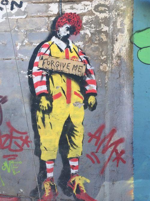 ronald mcdonald mcdonalds graffiti