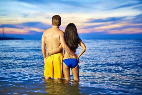 couple in love beach