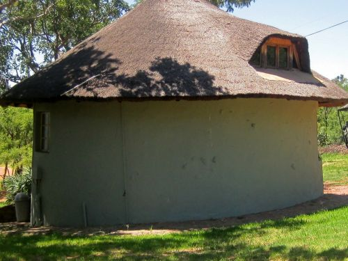 Rondavel With Thatched Roof