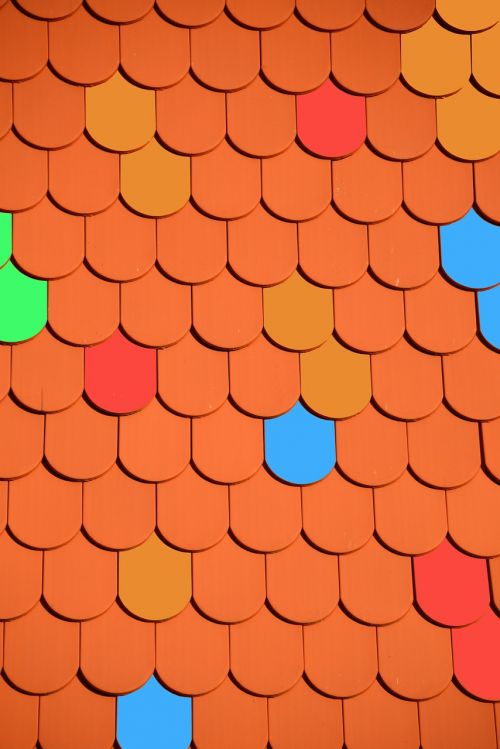 roof brick colorful