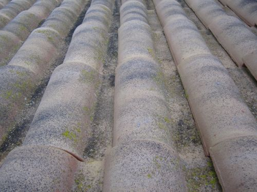 roof tile weathered