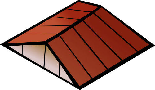 roof red house