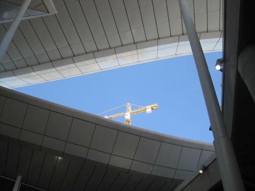 roof poles sky
