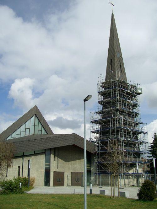 roof damage church steeple