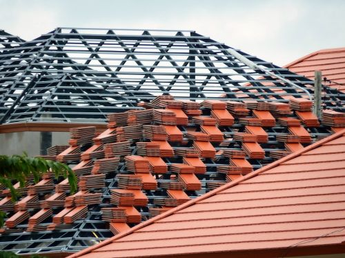 Roof Of House Under Construction