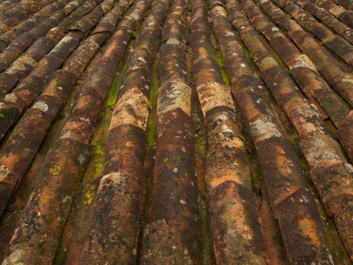 roof tiles pattern old