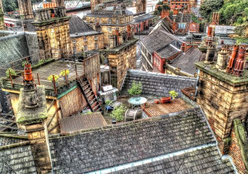 roof tops newcastle hdr
