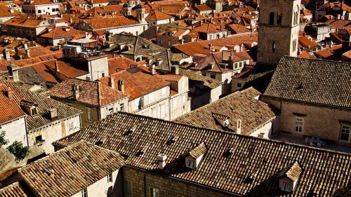 roofs orange roofs brown roofs