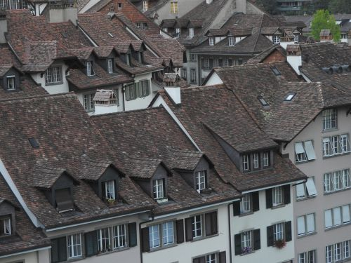 roofs tile roof old town