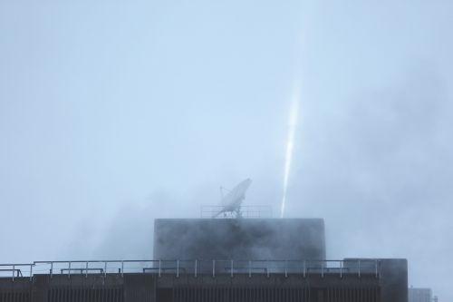 rooftop satellite dish spotlight