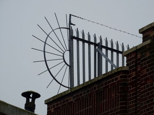 Rooftop Barbed Wire And Fence