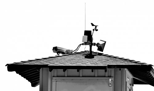 Rooftop Technology Black And White