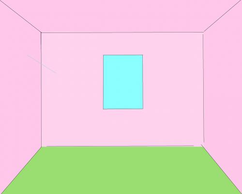 room empty room pink