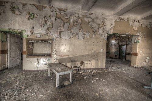 room  indoors  abandoned