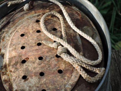 rope colander metal