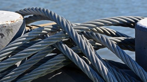 rope knot steel cable