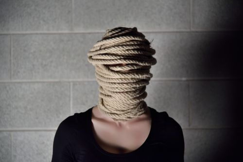 rope wall woman