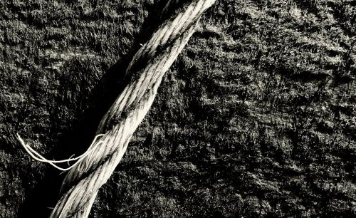 rope black and white old